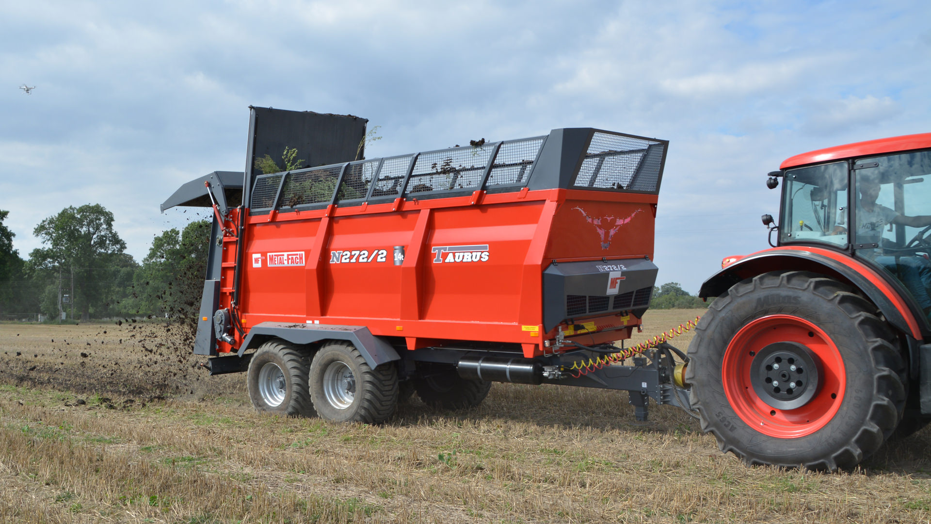 Разбрасыватель удобрений 12 тонн N-272/5, адаптер 2 шнека «TAURUS», METAL-FACH